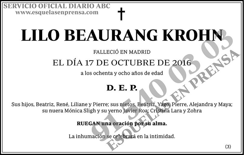 Lilo Beaurang Krohn